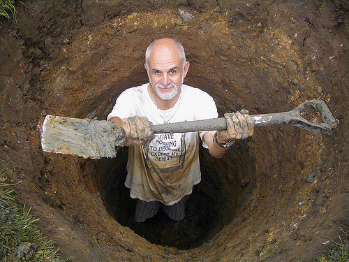 digging a hole